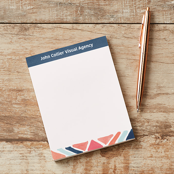 personalised notepads business memo pads vistaprint