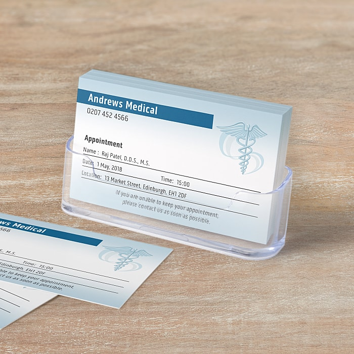 business appointment cards vistaprint
