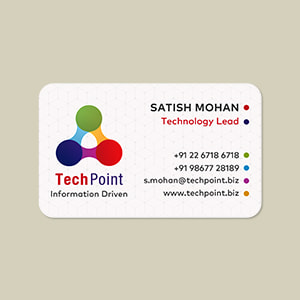 rounded visiting cards