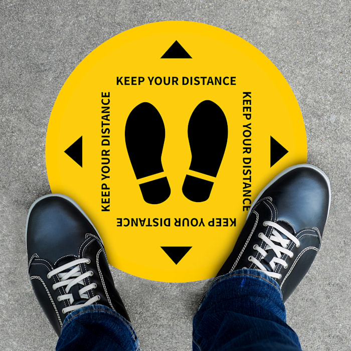 Floor Stickers - Social Distancing