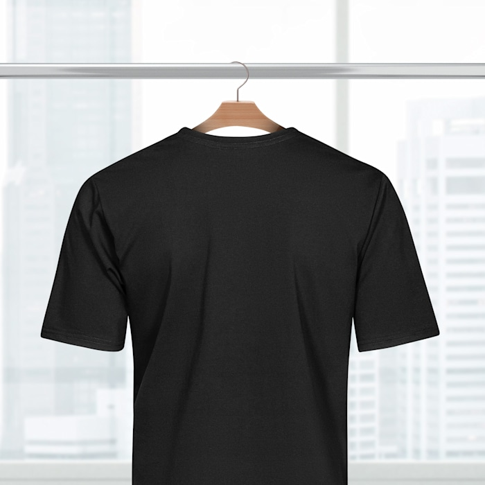 Men's Cotton T-shirts - Colours Black BACK