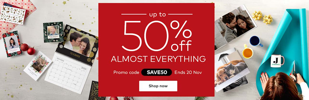 up to 50% off almost everything. Promo code SAVE50