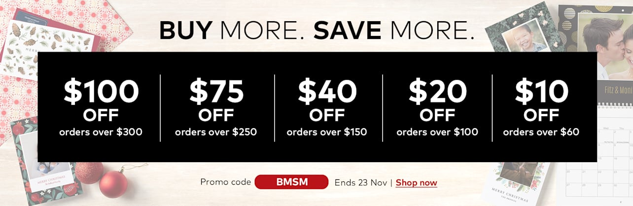 Buy More Save More. Ends 23 Nov.