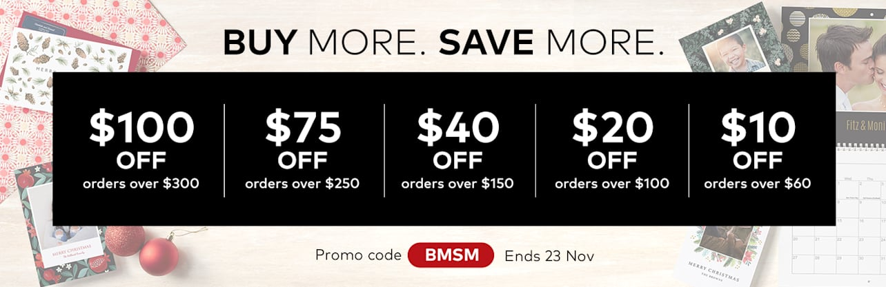 Buy More Save More. Ends 23 Nov