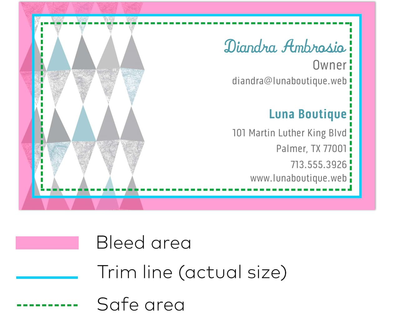 Business Card Dimensions Size Specs