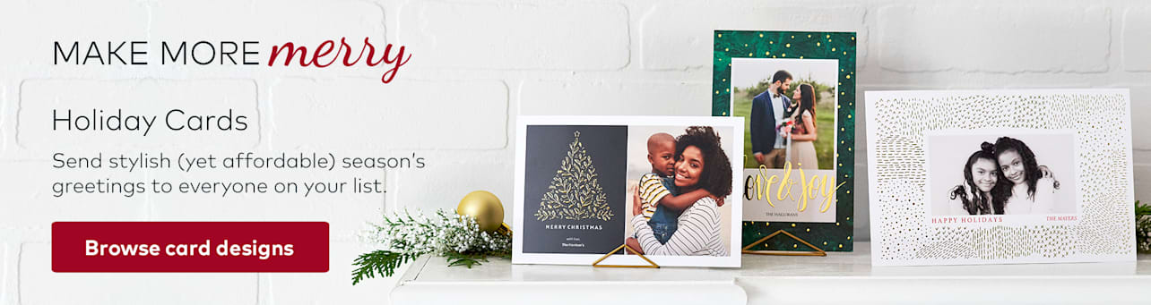 holiday card banner