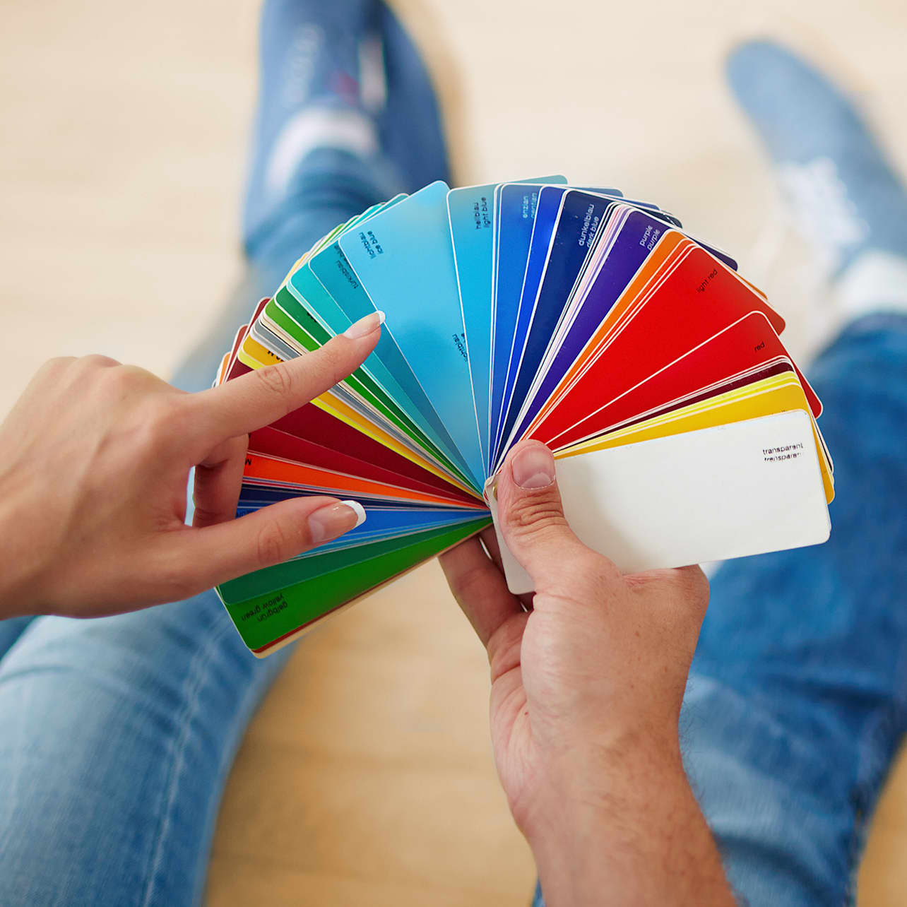 Business card color wheel