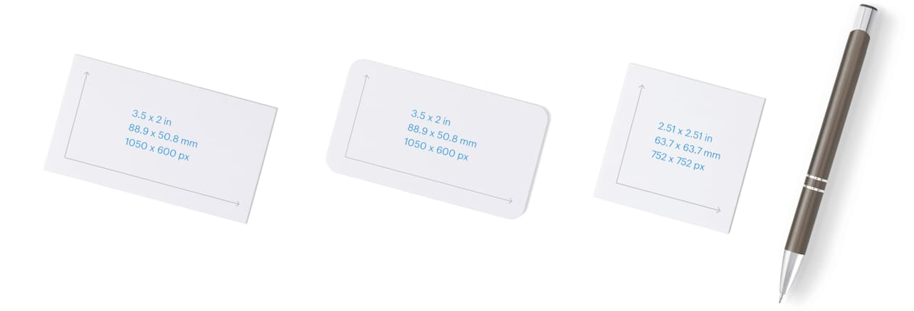 Business card all sizes @Vistaprint