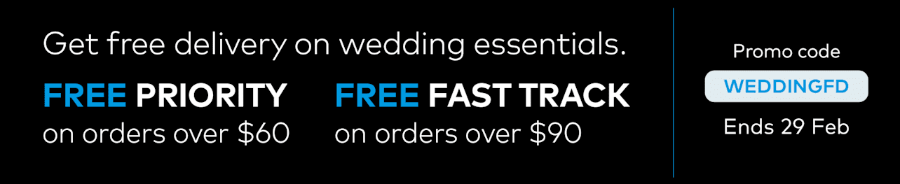 Free delivery on wedding essentials