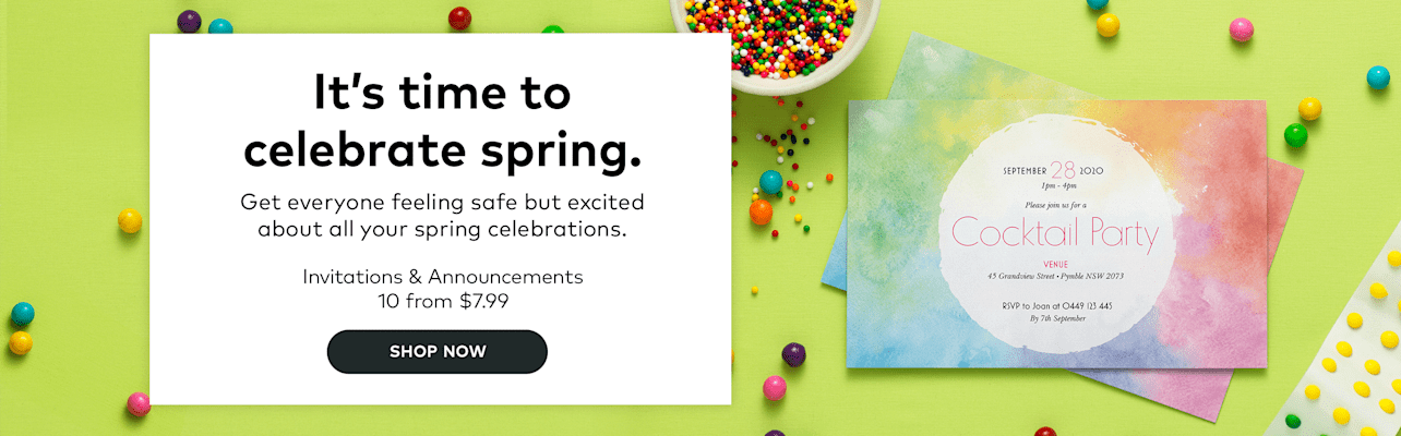 It's time to celebrate spring.