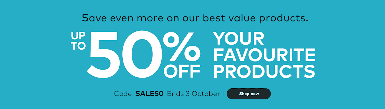 Save up to 50% off your favourite products.