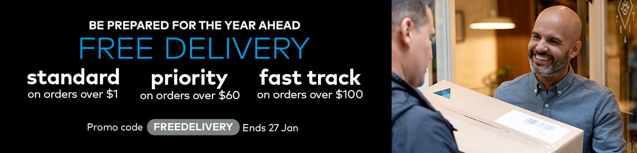 Free standard delivery on orders over $1
