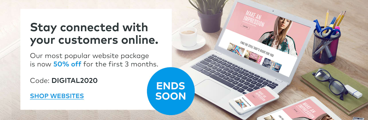 Ends soon: 50% off standard package for first 3 months
