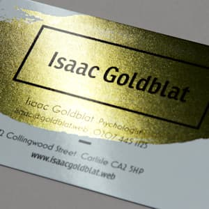 custom metallic business card