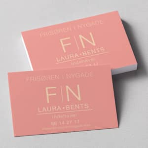 custom linen business card
