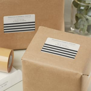 Personalized mailing labels on packages