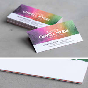 custom triple color layer business card
