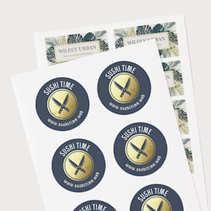 Personalized sheet stickers for branding