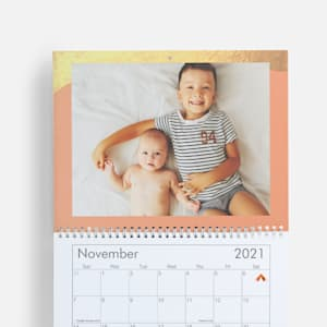 Personalized calendar with baby photos