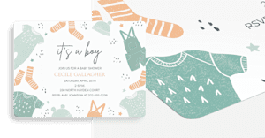 Customizable baby shower invitations