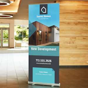 Retractable banners for real estate