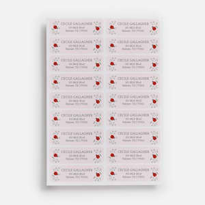 Custom return address labels with ladybirds
