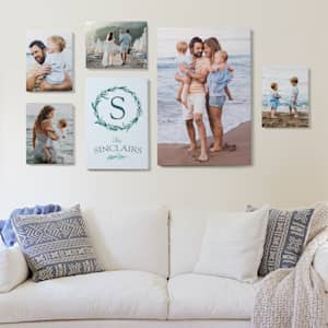 Photo canvas gallery wall