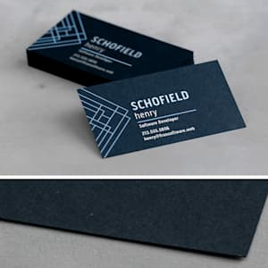 custom colored paper business card