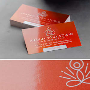 custom glossy business card