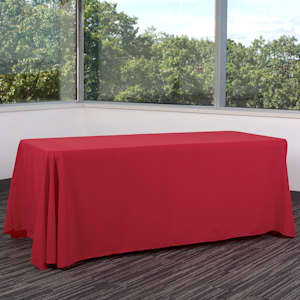 Colorful trade show table covers