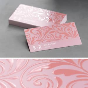 custom foil embossed gloss business card