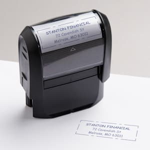 custom stamps & ink
