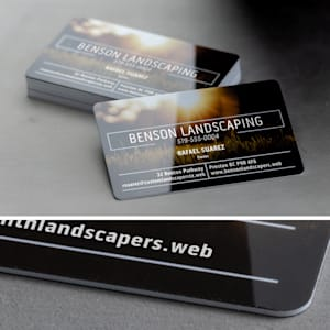 custom plastic business card