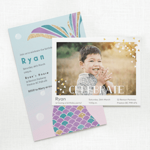 Customizable Birthday invitations