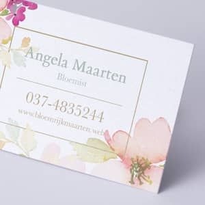 custom pearl business card