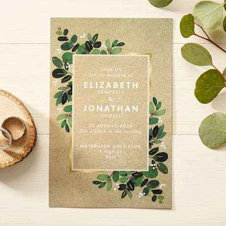 Rustic wedding invitations designs