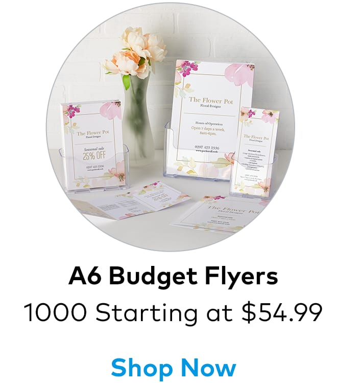 1000 A6 Flyers from $54.99.