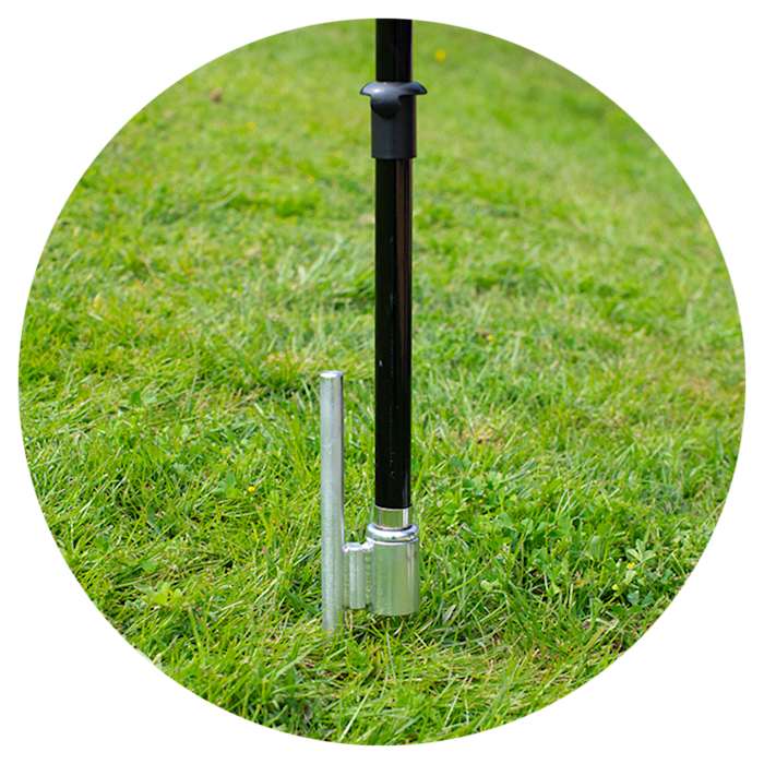 Ground stake base for Vistaprint flag