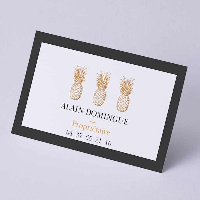 Recycled matte business cards