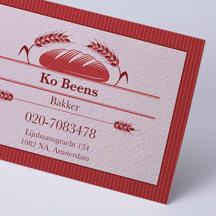 custom textured uncoated business card