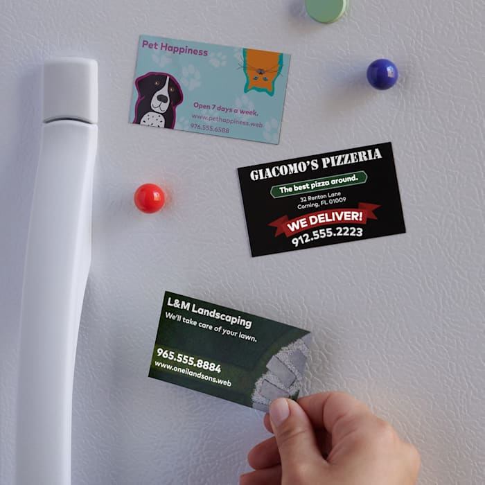 Business Card Magnets Magnetic