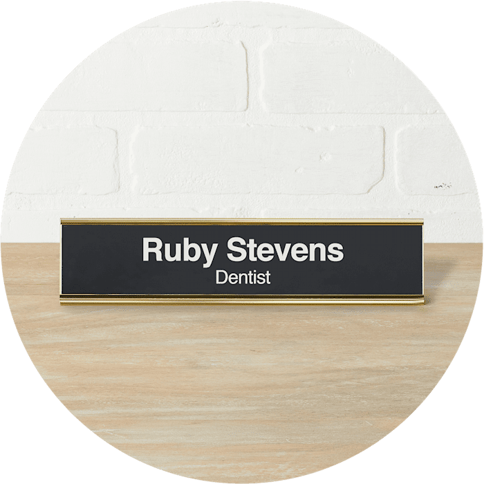 Engraved Name Plates Desk Plaques