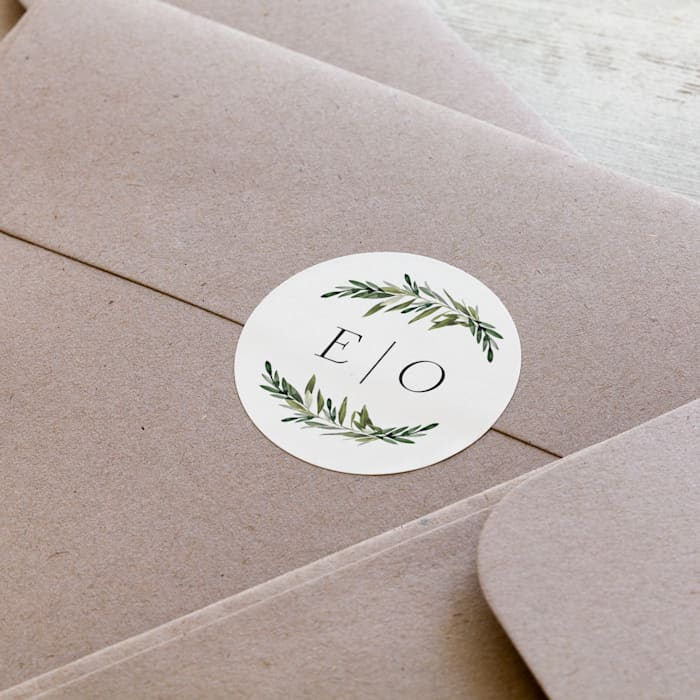 Message Card Board Envelope Stickers