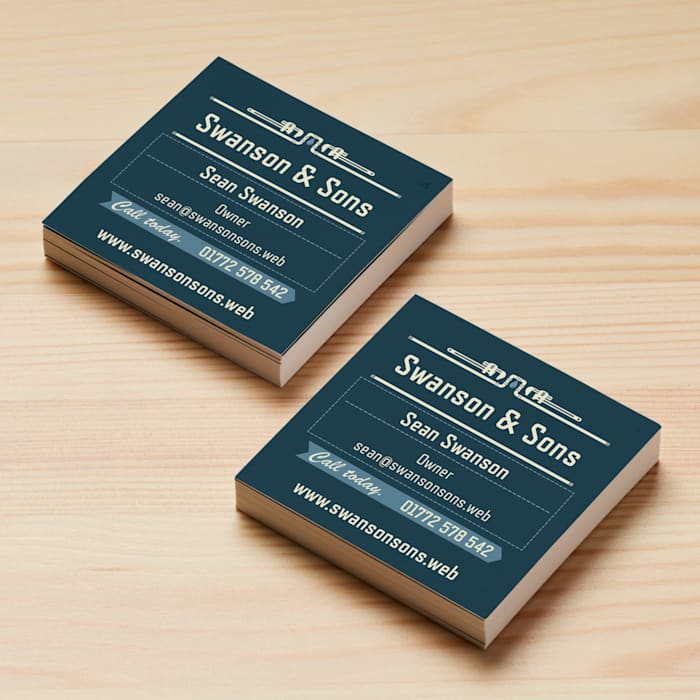 Square Business Cards Size 65 X Mm
