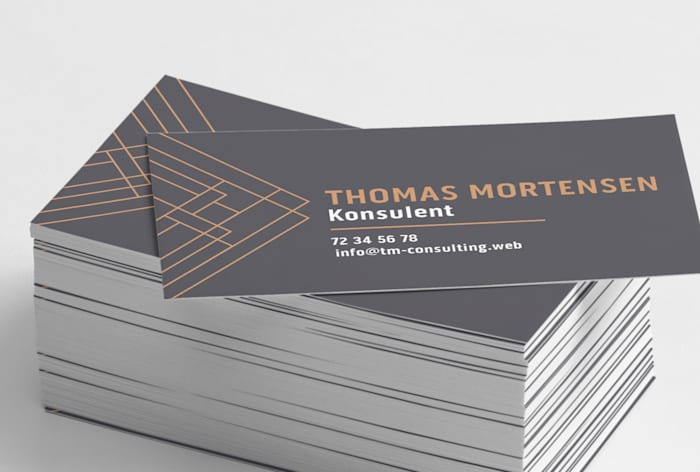 Custom standard business card