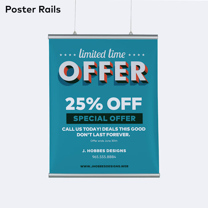 customer poster example by Vistaprint