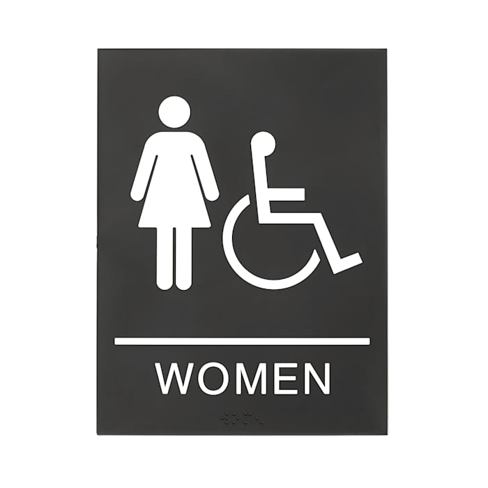 Womens restroom sign