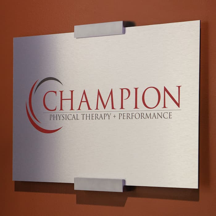 custom metal sign example by Vistaprint