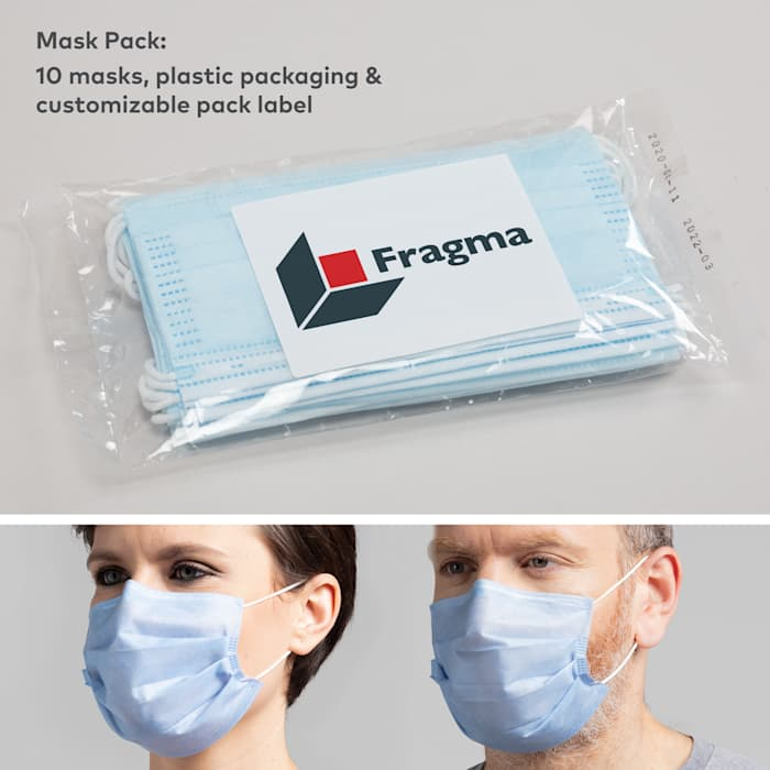 Vistaprint Blank Disposable Face Masks