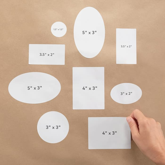 Make your own stickers with sizing options